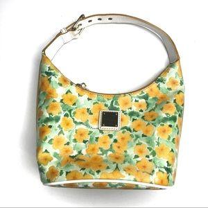 Dooney and Bourke Petunia Flower Yellow Bucket Bag